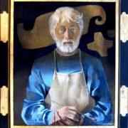 224-Autoportrait à la blouse bleue